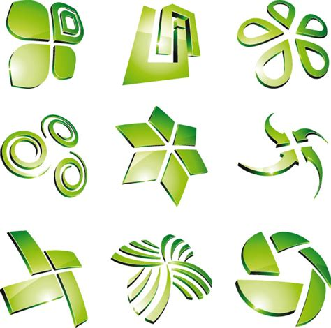 design vector logo illustrator green 3d logo design vector free vector in encapsulated
