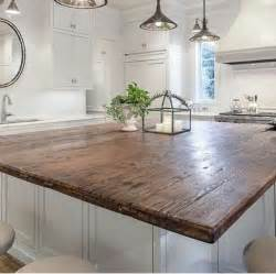 Wood Island Tops Kitchens by 25 Best Ideas About Wood Countertops On Wood