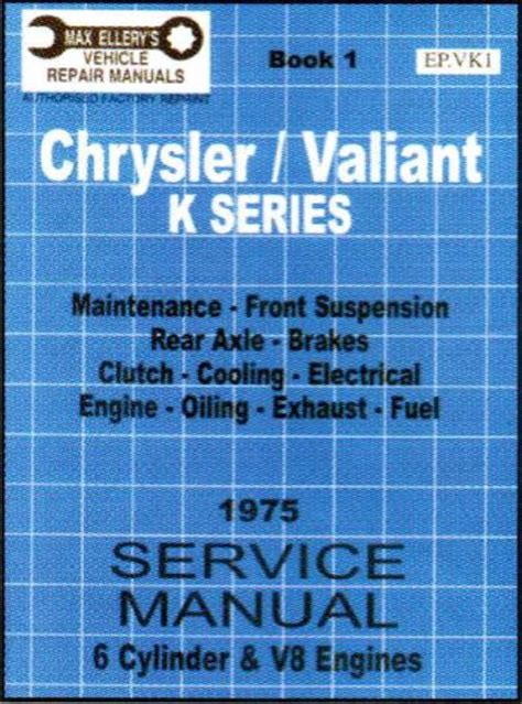 book vk chrysler valiant vk service manual book 1 sagin workshop