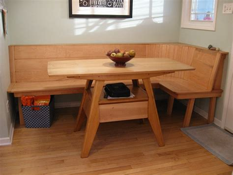table and bench seats kitchen table bench seat treenovation