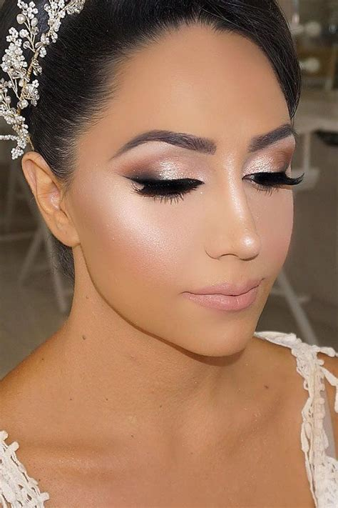 36 Bright Wedding Makeup Ideas For Brunettes   My Make up