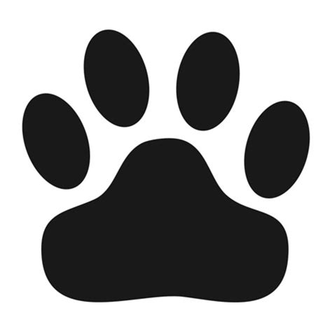 Kitty Paw Print Clipart Best Paw Print Templates