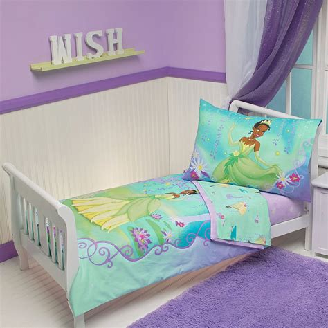 Disney Princess Crib Bedding Set 4pc Disney Princess Frog Toddler Bed Set Purple Pads Crib Comforter Ebay
