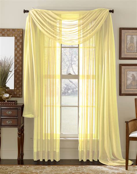 Yellow Sheer Curtains Lemon Yellow Sheer Panel Moshells