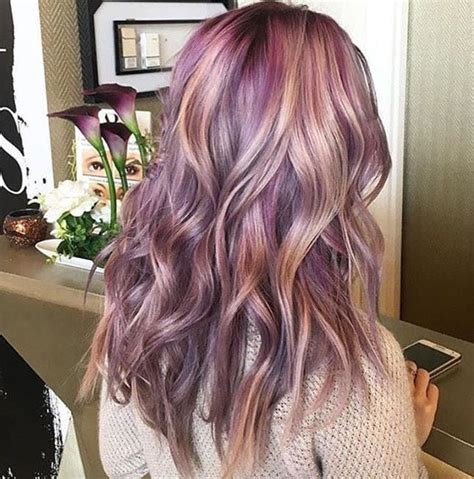 lilac higlights hairstyles with lilac highlights 1000 ideas about