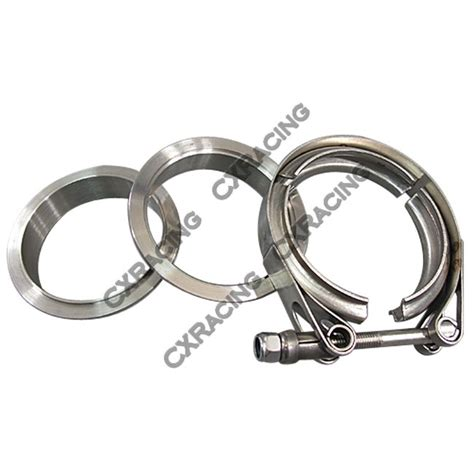 2 5 Stainless V Band Flange 2 5 quot self aligning v band cl flange kit turbo exhaust