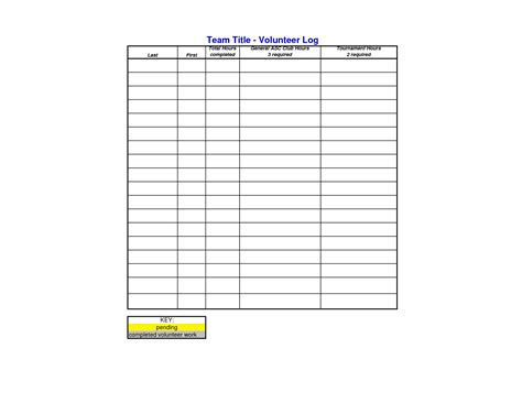 volunteer hours log template search results for blank volunteer hours log sheet