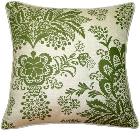 rustic floral green 20x20 throw pillow from pillow decor