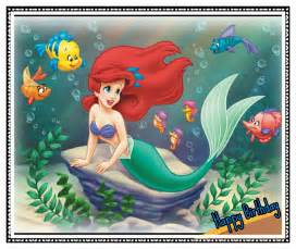 birthday card some cool collection mermaid birthday card disney birthday card free