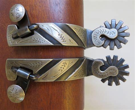 Handmade Spurs For Sale - 9038 new handmade marion turner 182 mounted spurs