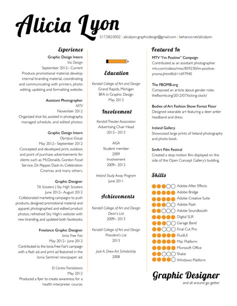 graphic design resume template http jobresumesle