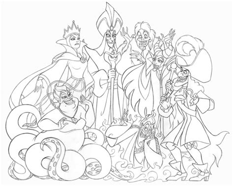 coloring pages disney villains jennifer gwynne oliver illustration product design