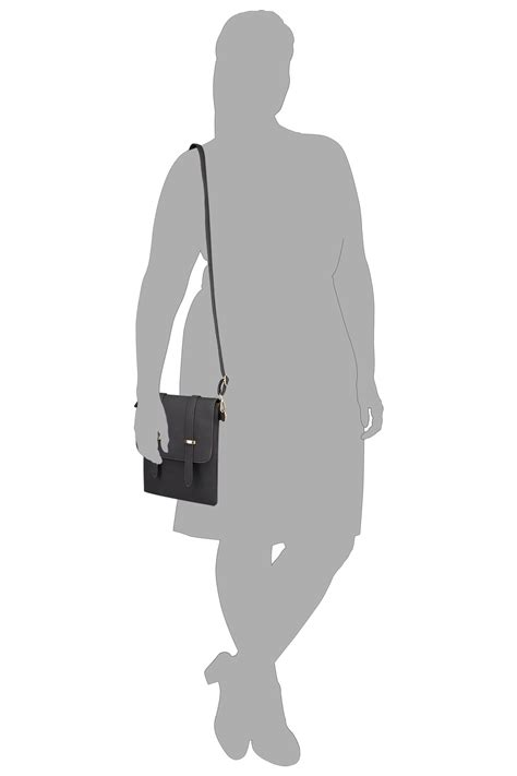 Fei Li Button Motif Leather Handbag Set Pastel black foldover cross bag
