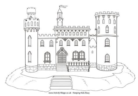 castle moat coloring page motte and bailey castle colouring page colouring castle