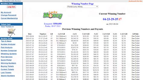 Florida Lucky Money Winning Numbers - search florida lucky money numbers jackpot information