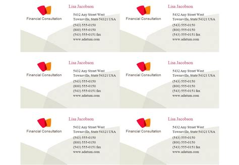 Avery Templates For Business Cards 8869 by Compatible With Avery Business Card Template 8371
