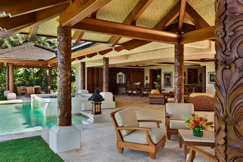 bali house plans tropical living bali house tropical patio hawaii by rick ryniak