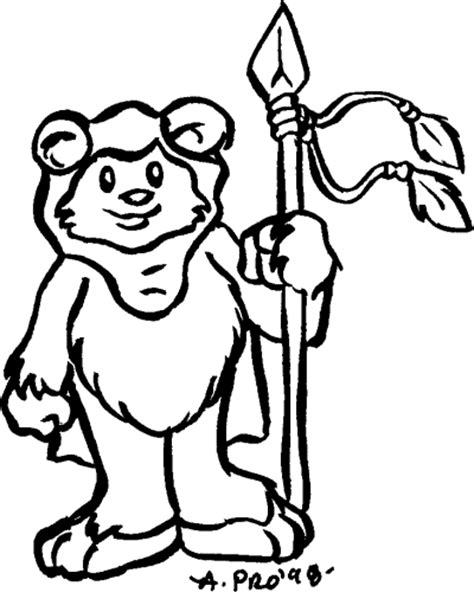 free coloring pages of star wars ewoks
