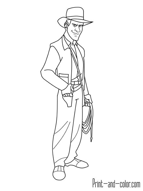 indiana jones coloring pages print and color com