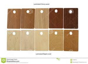laminated samples of cherry wood and maple wood royalty