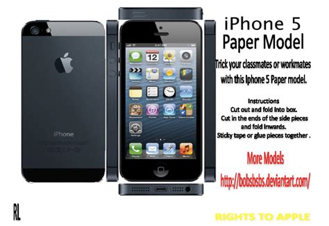 How To Make An Iphone Out Of Paper - best photos of iphone 5 papercraft template iphone 5