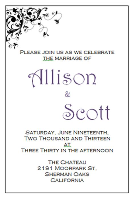 A6 Wedding Invite Template by Your Free Wedding Invitation Printing Templates Here