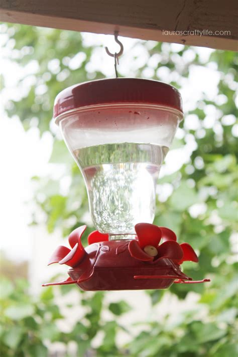 make your own hummingbird feeder food laura s crafty life