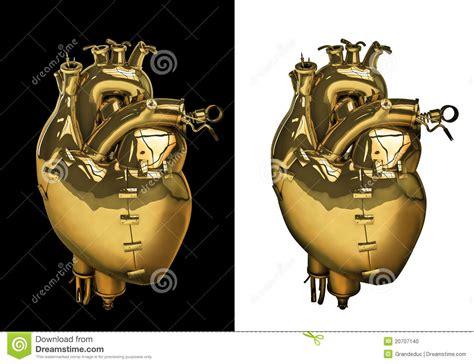 imagenes de corazones mecanicos coraz 243 n mec 225 nico del oro foto de archivo imagen 20707140