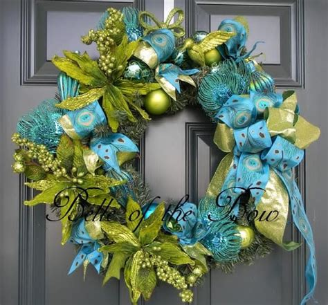 Teal And Green Decor by Turquoise And Lime Decorations Large Peacock