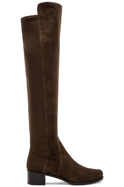 stuart weitzman reserve suede the knee boots in brown