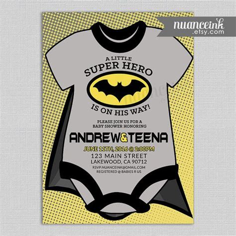 Batman Baby Shower Invitations by 31 Best Batgirl Baby Shower Ideas Images On