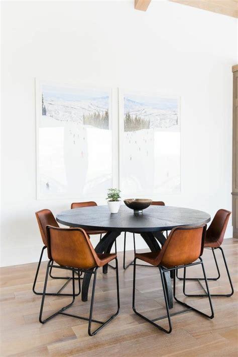 Table Ronde Et Chaises by La Plus Originale Table De Cuisine Ronde En 56 Photos