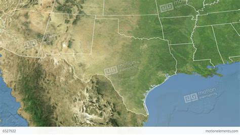 satellite map of texas texas state usa extruded satellite map stock animation 6527922