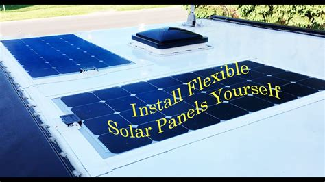 rv roof install semi solar panel installation on rv roof how to