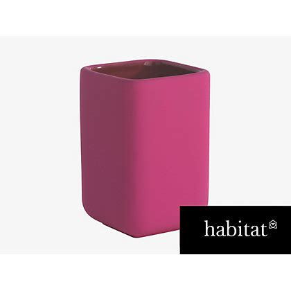 Habitat Bathroom Accessories Habitat Brody Pink Beaker At Homebase Be Inspired And Make Your House A Home Buy Now
