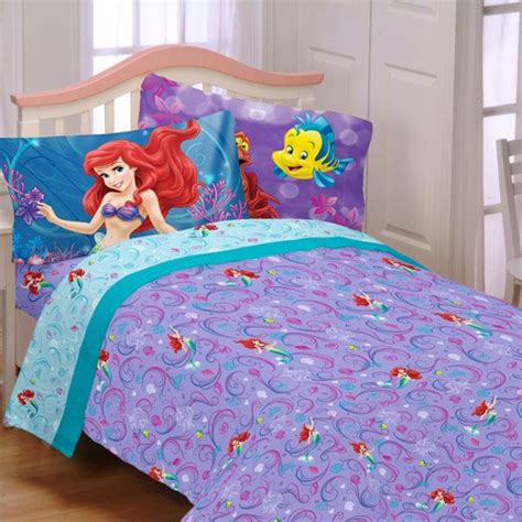little mermaid bed set my family fun coloring page ariel the siren