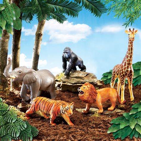 let s learn about jungle animals letã s 2 set learning resources jumbo dinosaurs jungle animal