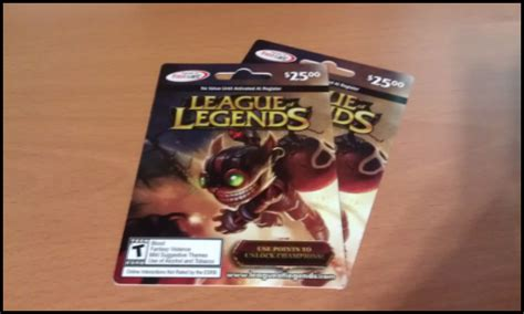 League Of Legends Gift Cards - s two 25 00 league of legends gift cards toribash community