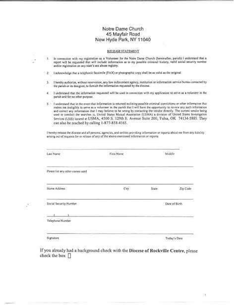 State Of Nh Criminal Record Release Authorization Form Background Check Release Form Ecochemics Tk