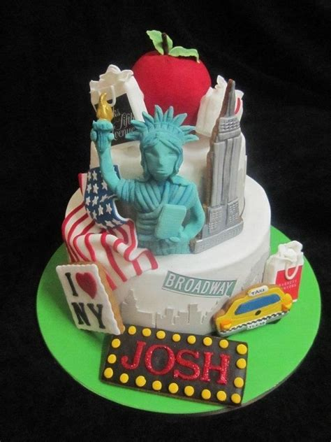 New York Themed Cake Decorations by New York Cake Ideas