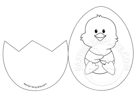 easter bunny card template printable easter inside a cracked egg easter template