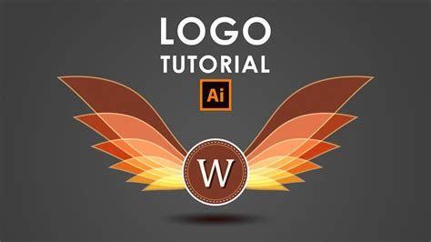 logo tutorial illustrator youtube how i create a wings logo illustrator tutorial youtube