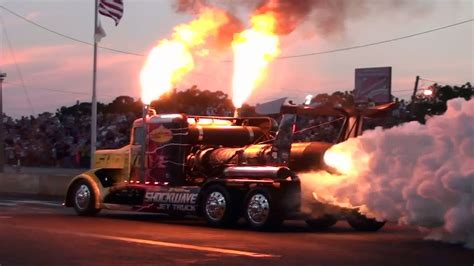 monster truck drag racing grave digger vs shockwave drag race youtube