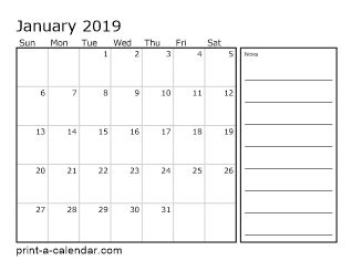 2018 two months per page printable calendar