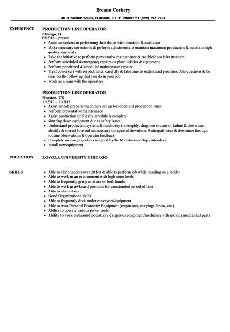 production operator resume awesome production line resume exles photos exle