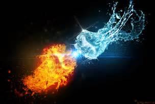 fire vs water by ade darkstone on deviantart