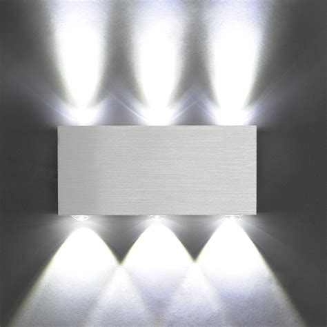 Modern Wall Lights For Bedroom Modern Aluminum 6 Led 6w Up Wall Lights For Living Room Bedroom Cool W G2f7