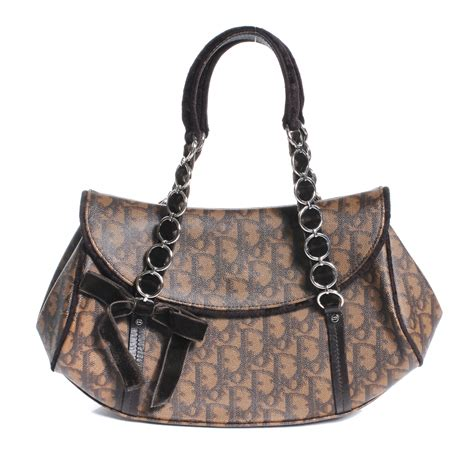 Christian Trotter Romantique Tote Bag by Christian Monogram Romantique Trotter Bag Brown 49931