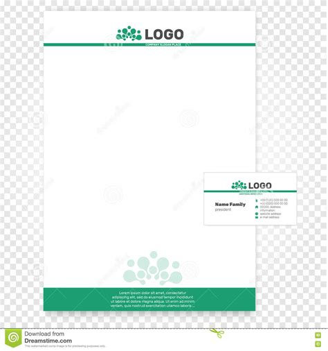paper page vector illustration company identity business