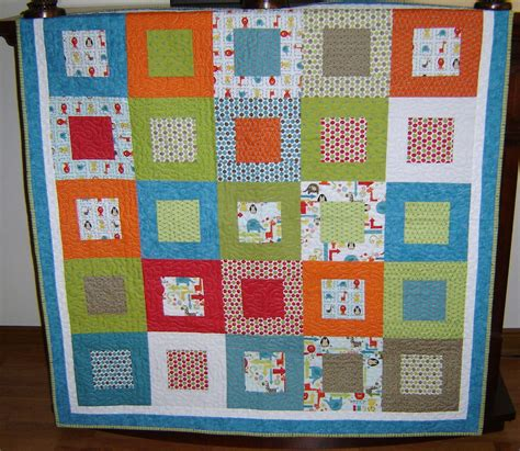 Patchwork Nursery - baby quilt modern boy bedding patchwork nursery crib by